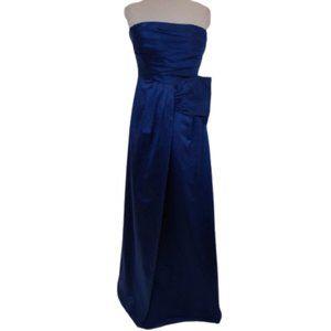 "BCBG ""Ink"" Royal Blue Duchess Satin Gown- Sz. 6"
